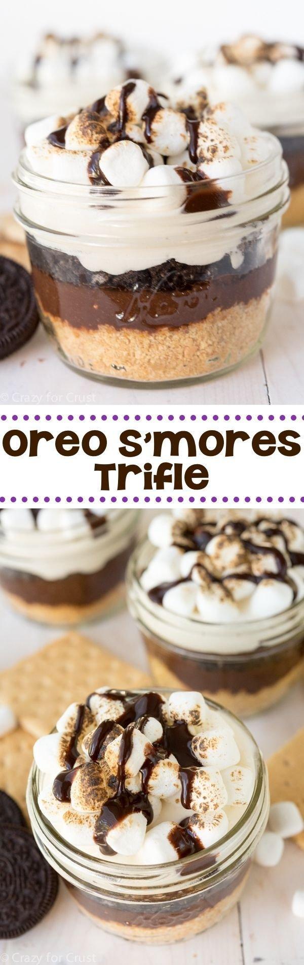 No Bake Oreo S'more Trifle