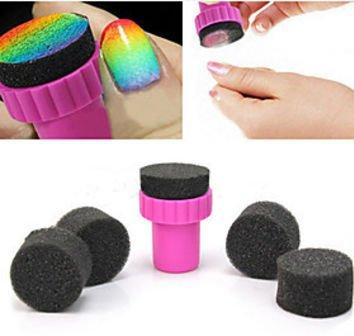 Manicure Sponge Nail Art Stamper Tools with 5PCS