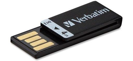Clip-IT 4 GB USB 2.0 Flash Drive, Black