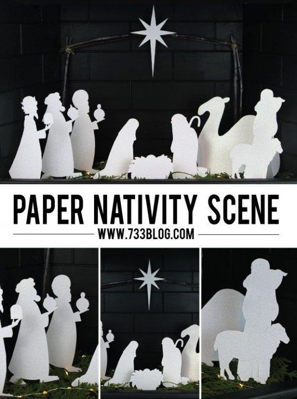 Paper Nativity Scene