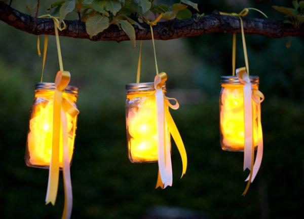 Fairy Lights inside Jars