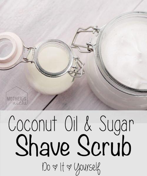 Coconut Oil and Sugar Shave Scrub