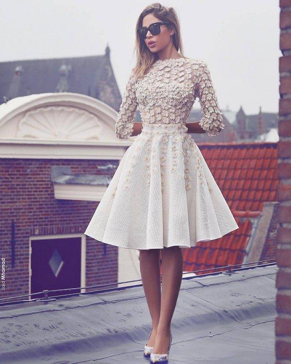 dress, gown, cocktail dress, fashion model, lady,