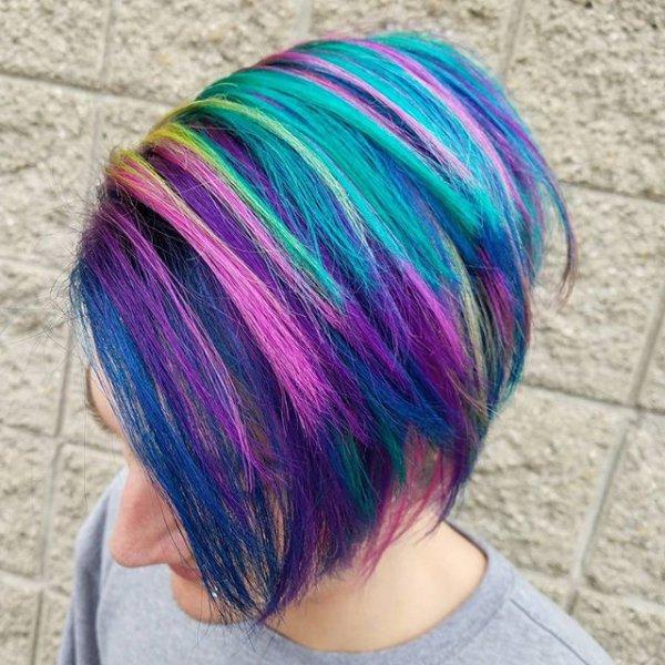 hair, clothing, blue, purple, thread,