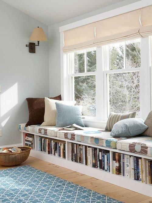 Build Book Storage into a Window Seat