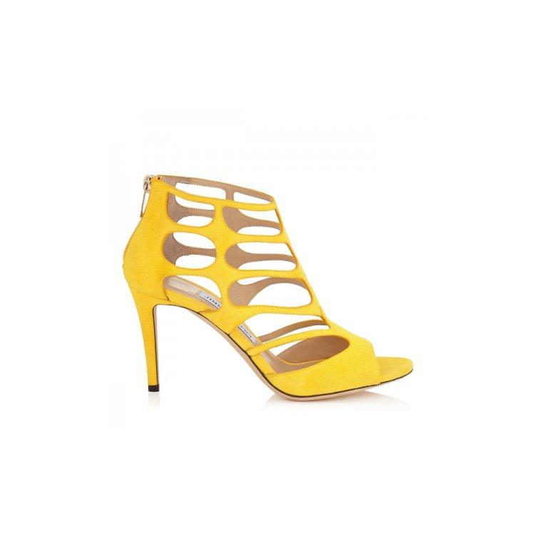 footwear, yellow, leather, high heeled footwear, shoe,