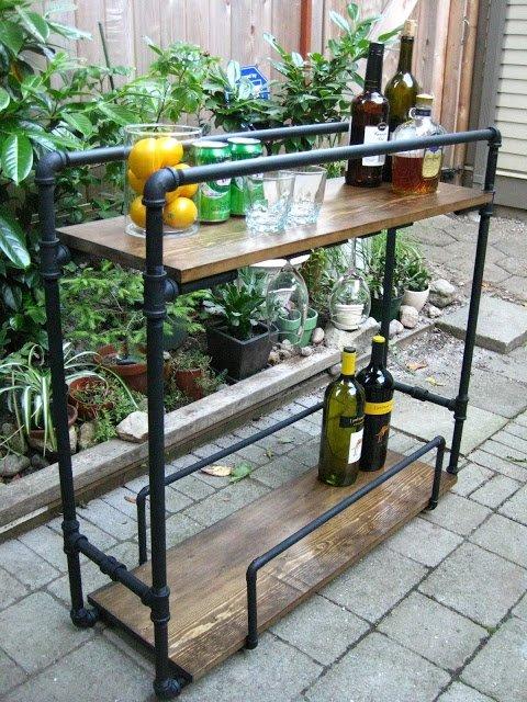 Pipe Bar Cart