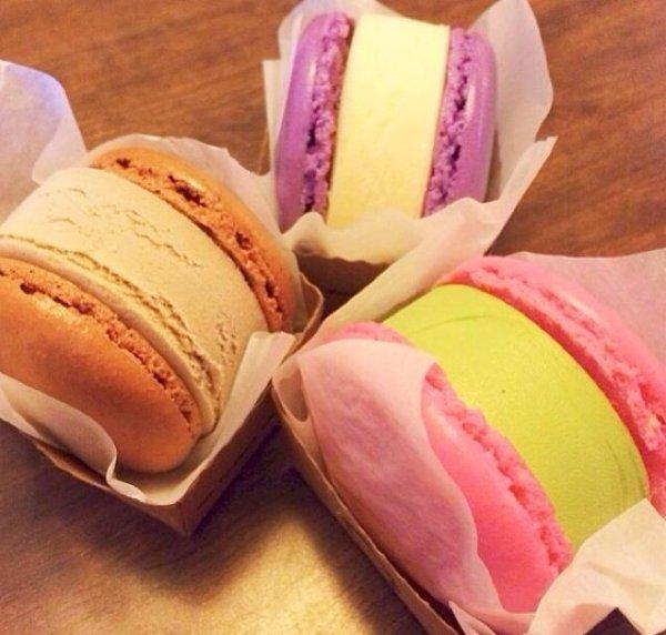 Macaroon Ice Cream Sandwich