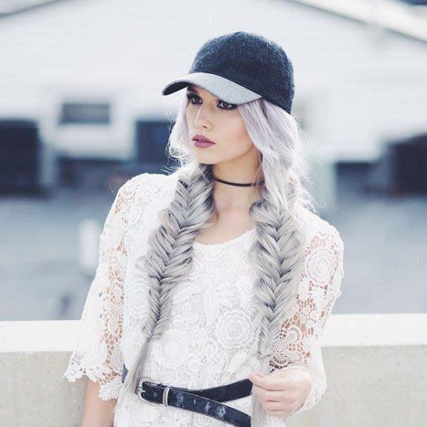 clothing, hood, knit cap, leather, denim,