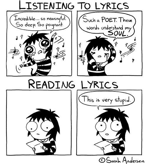 cartoon, book, LISTENING, LYRICS, Incredible,