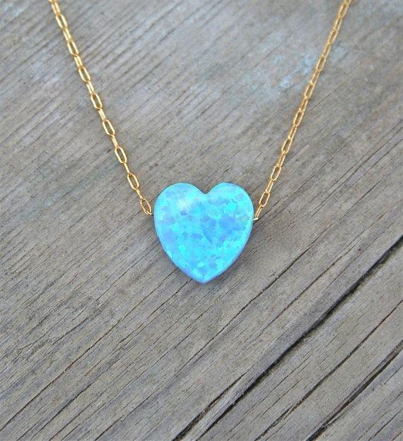 Heart Opal Necklace