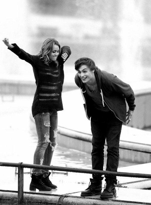 "Douglas Booth & Miley Cyrus in ""LOL"""