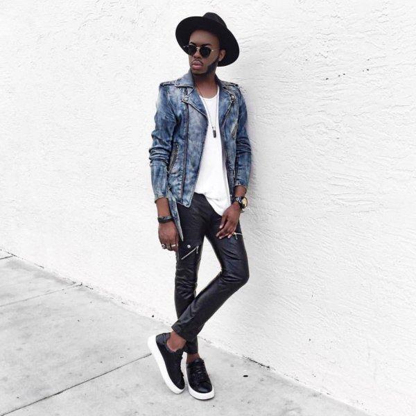 clothing, black, denim, leather, jacket,