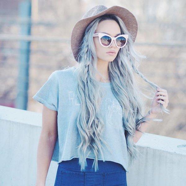 clothing, hair, denim, hairstyle, eyewear,