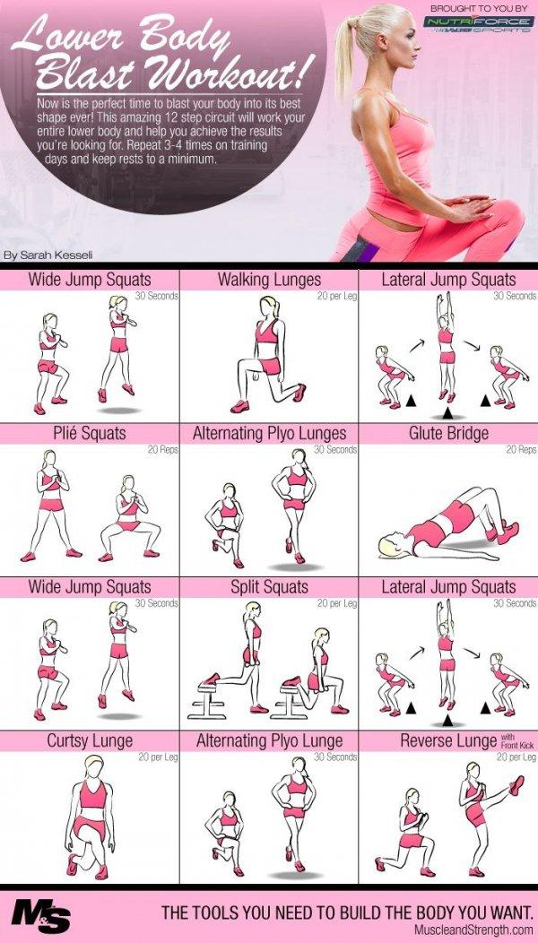 17 Lower Body Blast Circuit Workout