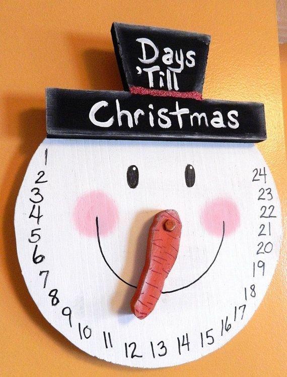 Snowman COUNTDOWN to Christmas Wall Hanging