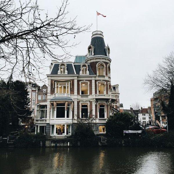 house, landmark, tree, building, town,