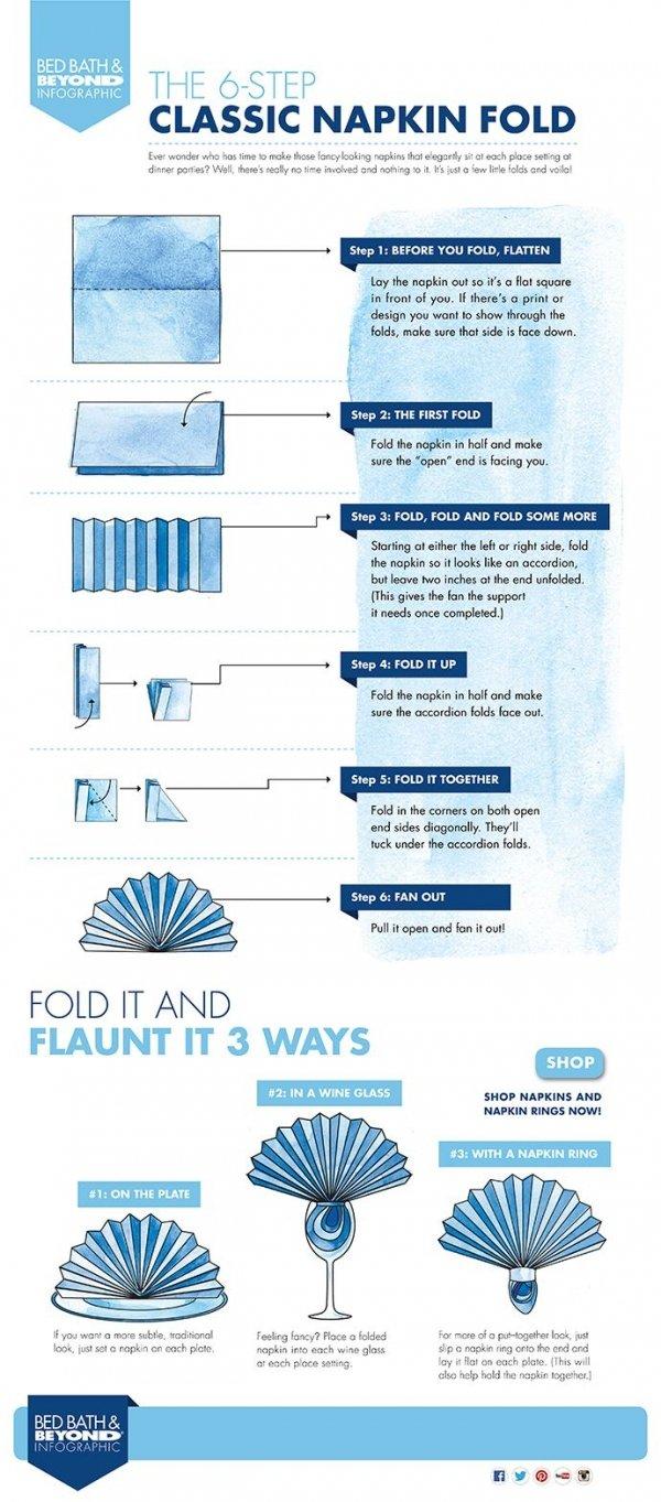 25 Tutorials For How To Fold Napkins