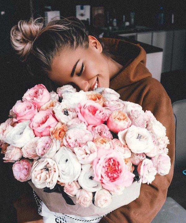 flower, pink, woman, flower bouquet, plant,