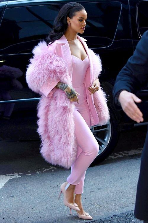 clothing, pink, fur, beauty, footwear,