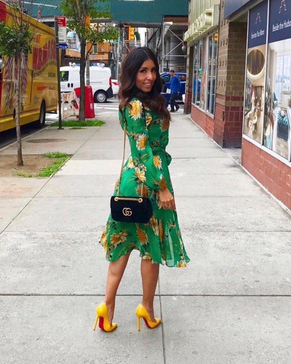 yellow, snapshot, dress, fashion, road,