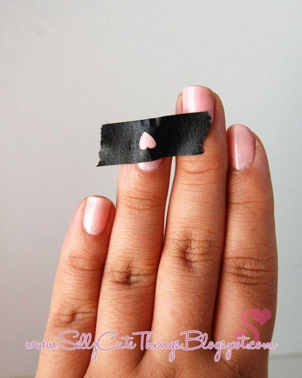 Use Hole Puncher and Masking Tape to Make Shapes
