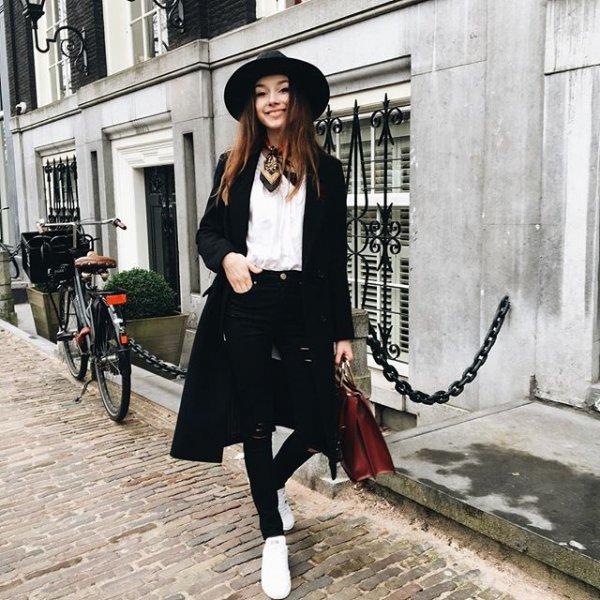black, clothing, lady, footwear, street,