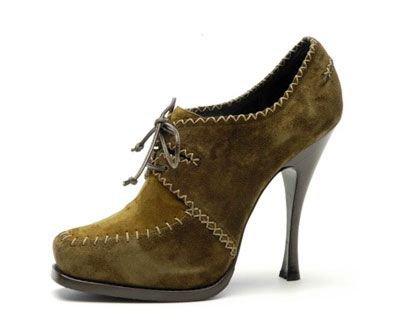 Donna Karan Suede High-heel Moccasin Bootie