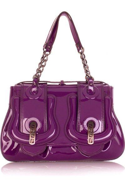 Fendi Patent B Bag