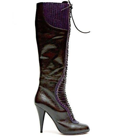 Miu Miu Leather Lace-up Boot
