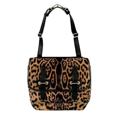 Besace Flap Bag in Leopard Buffalo Leather
