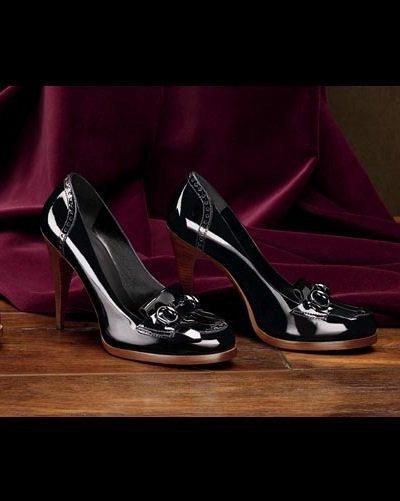 Black Cambridge High Heels Moccasins