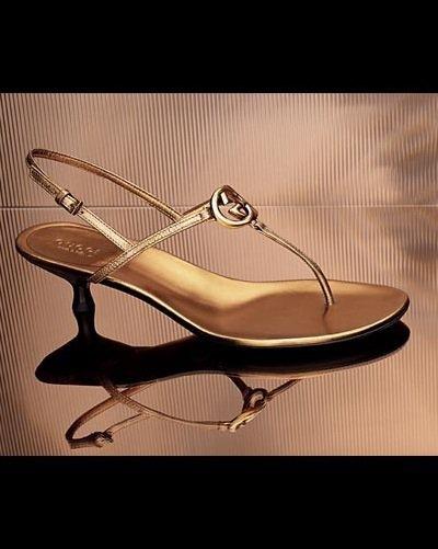 Britt Low Heel Thong Sandals