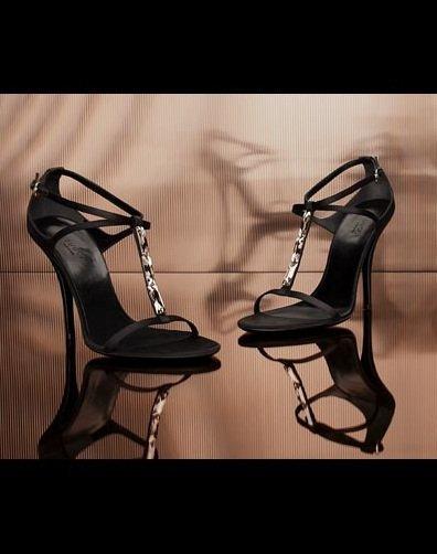 Black Satin Sandals