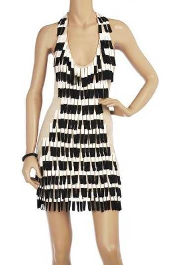 Temperly London Mini Ermine Dress
