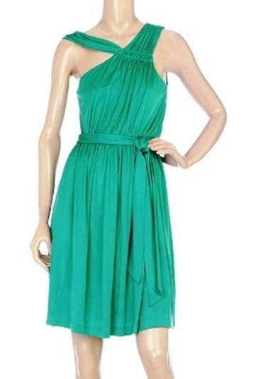 Mint Jodi Arnold Asymmetric Silk Jersey Dress