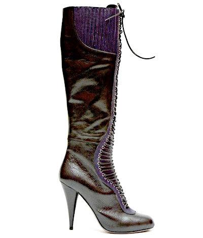 Miu-Miu Leather Lace-up Boot