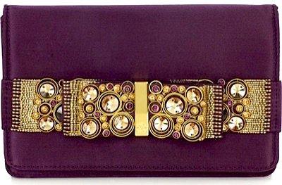 Roberto Cavalli Jeweled Bow Clutch