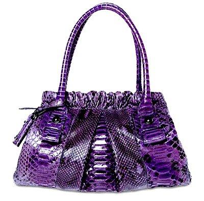 Sergio Rossi Purple Python Bag