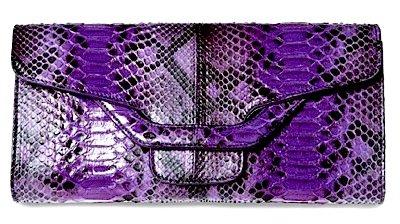 Sergio Rossi Purple Python Clutch