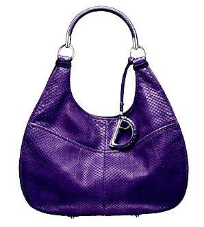 "Dior Purple ""Dior 61"" Bag"