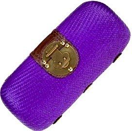 Purple Weave Clutch