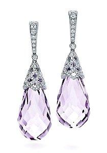 Tiffany Amethyst Weave Earrings