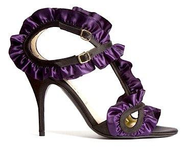 Bruno Frisoni Purple Ruffle Sandal