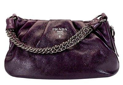 Purple Prada Bag with Palladium-Plated Handle