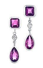 Tiffany Rubellite Drop Earrings