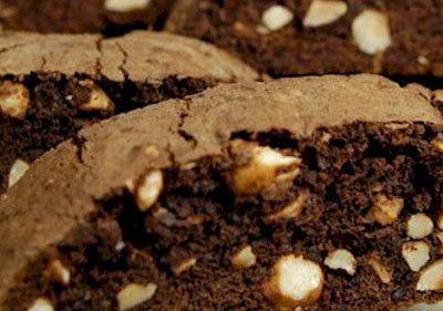 Chocolate Hazelnut Biscotti: