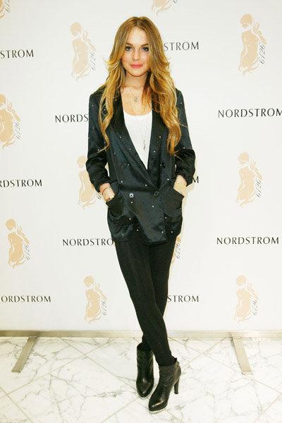 Lindsay Lohan at the Leggings Promotion at Nordstorm: