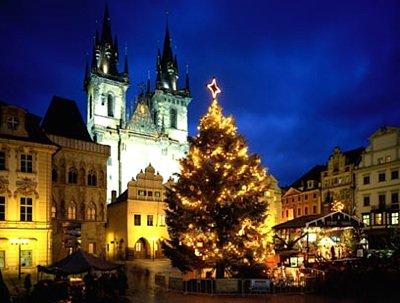 Christmas Tree in Prague, Czech Republic