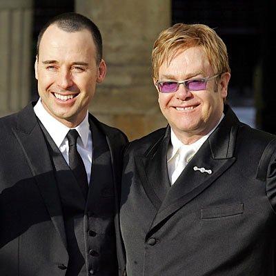 Elton John and David Furnish ...